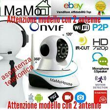 TELECAMERA IP CAMERA HD 720P WIRELESS LED IR LAN SUPPORTO TELEFONICO PER INSTALL