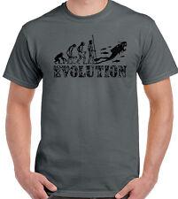 Scuba Diving T-Shirt Evolution Mens Funny Snorkel Equipment Gear Sea Air Tanks