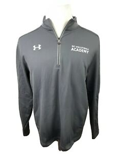 NEW Under Armour Loose Men's Gray 1/4 Zip Size Large NC Volleyball Academy