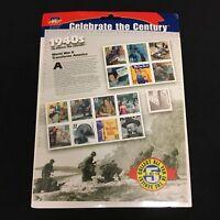 Sealed United States USPS Stamp Sheet Celebrate The Century 1940s .33 Scott 3186