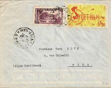 LETTRE ASIE VIETNAM POUR NICE 1951