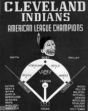 1954 CLEVELAND INDIANS BASEBALL AMERICAN LEAGUE CHAMPIONS 8X10 TEAM PHOTO POSTER