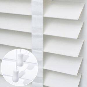 Faux Wooden Venetian Blinds 50mm Slats Window Shutter Blinds White Grey 11 Sizes