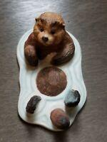 Sea World Oppie Otter Figurine 1982 Porcelain Salem Towne Collectibles Vintage