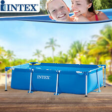 Intex 300x200x75 cm Swimming Pool Schwimmbecken Frame Stahlwandbecken Schwimmbad