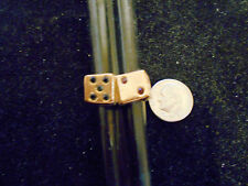 bling gold plated casino riverboat gambing dice 7 ring hip hop jewelry sz 13