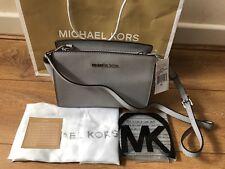 95f876aa81c4e Brand New Genuine Michael Kors Pearl Grey Selma Medium Messenger Crossbody  bag