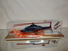 MAJORETTE SERIE 3000 - 3043 POLICE HELICOPTER - BLUE - NEAR MINT IN BLISTER