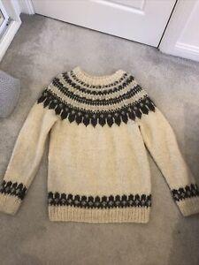 Vintage Hand-knit Angora Jumper Fair isle