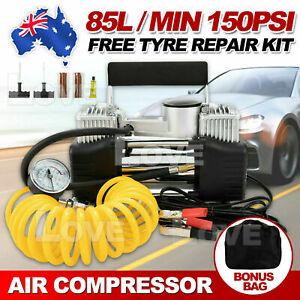 12V 85L/min Air Compressor Tyre Deflator Inflator 150PSI Portable 4WD Car Truck