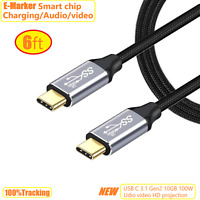 6ft USB Type-C Video/Audio Fast Charging Cable 4K@60Hz Video Output Thunderbolt