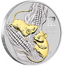 2020 Year of the Mouse 1oz Silver Gilded Coin