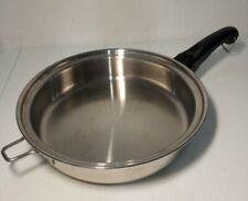 SALADMASTER VERSA TEC TP304-316 11 Inch Skillet Fry Pan Frying Made in USA EUC