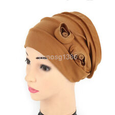 7 Colours Unique Cotton Flower Hat Cancer Chemo Beanie Baggy Cap Turban Hijab
