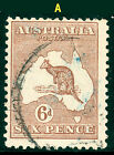 Kangaroo 1929 6d Chestnut (shades) SMW. Sg107 4 to choose from VFU • FREE POST