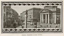 D1009 Trieste - Tergesteo e Borsa Vecchia - Stampa antica - 1917 old print