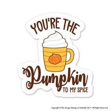 Pumpkin To My Spice Love Sticker Valentines Heart Decal Car