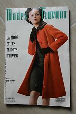 MODES ET TRAVAUX N°802 1967 mode fashion couture tricot pages poupées PATRON