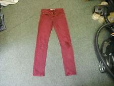 "Topshop Moto BAXTER Jeans Waist 26"" Leg 31"" Faded Maroon Ladies Jeans"