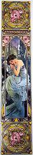 """""""segundos"""" descanso nocturno Azulejo Mural Panel mucha Dama Panel De Chimenea hecho a mano Reino Unido"""