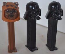 Vintage Star Wars Pez Lot of 3 Lot 48 Darth Vader Chewbacca
