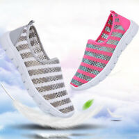 Women's Running Breathable Mesh Sneakers Trainers Shoes Slip On Loafers Shoes