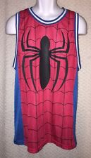 Spiderman Sleeveless Jersey size adult Medium by MARVEL