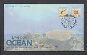 Philiippine Stamps 2020 (2021) Save Our Ocean, Complete set on FDC