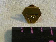 Vintage Lapel Hat Pin Gold Tone Metal  5 Year  stop sign emblem  1/10  10K