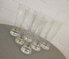 6 edle Kristall Weizenbier Gläser Bierglas mit Schliff Floral Vintage 70er Jahre