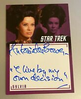 STAR TREK TOS CAPTAINS COLLECTION A10 ANTOINETTE BOWER INSCRIPTION AUTOGRAPH 2