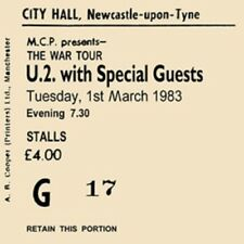 U2 Concert Coasters Ticket March 1983 High quality mdf