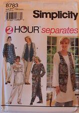UNCUT Simplicity 8783 Misses Plus Size Tunic Pants Vest Kaftan Style Sz 18-24W