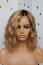 7A Brazilian Virgin Human Hair Wig Ombre Blonde Full Lace Wigs Lace Front Wigs