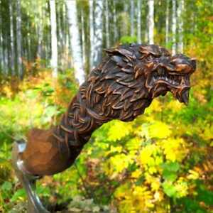 VIKING Axe Hand FORGED Steel Head AMAZING ENGRAVED HANDLE