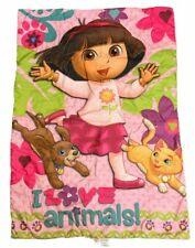 Vintage Dora The Explorer Crib Toddler Bed Comforter Blanket