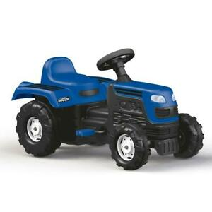 Dolu Ranchero Tractor Pedal Operated Kids Boys Childs Ride On Vehicle Blue 3Yr+