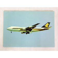 Singapore Airlines - Boeing 747-200 - Landing - Aircraft Postcard