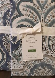 Pottery Barn Jordana Paisley Sham, Size Euro, set of Two New W/ $39.50 each