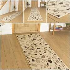 Scroll Cream - Hallway Carpet Runner Rug Mat For Hall Extra Very Long Cheap New