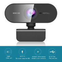 2MP 1080P HD USB Webcam Autofocus Web Camera for Live Video with Microphone