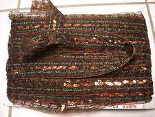 2 yard Metallic Brown Sequin Sequins ribbon trim*1'1/2 in-wide