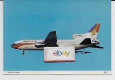 GULF AIR BAHRAIN LOCKHEED L-1011-100 GOLDEN FALCON 5 STAR #A-40TX POSTCARD