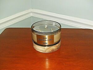NWT DW Home 3 WICK CANDLE Smoked Cedar & Musk Jar Candle Wood  Mauve