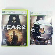 Fear 2 Project Origin XBox 360 Microsoft Complete CIB VERY Fast Ship World!