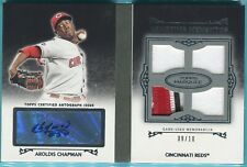 2011 Topps Marquee Aroldis Chapman Auto Patch Booklet 9/10