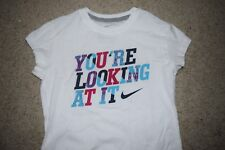 New Girl's Nike White You're Looking at it T-shirt size Large