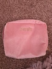 Benefit Pink Velour Make Up Bag Pouch Cosmetics Bag