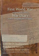5 DIV HQ, Commander Royal Artillery : 1 May 1917 - 30 November 1917