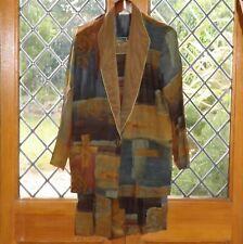 Casual Corner, Brown multi coloured 2 pce jacket & Capri pants, size 10 USA NWT